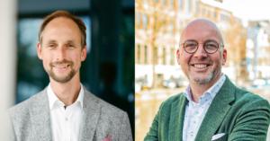 Foto: Roland van Herk (links) van HEYDAY en Vincent le Noble (rechts) van Measuremen.